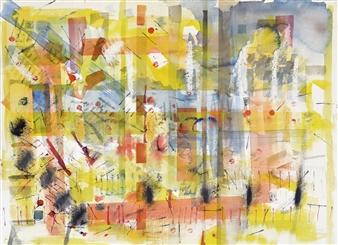 Kerstin Lundin - Childhood Friend Watercolor on Paper, Paintings
