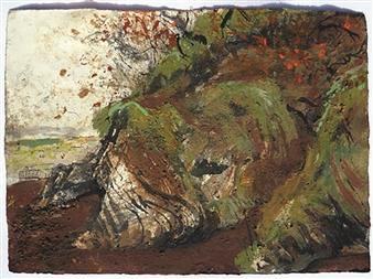 Frances Hatch - Fremington Beech Flurry Mixed Media on Watercolor Paper, Mixed Media