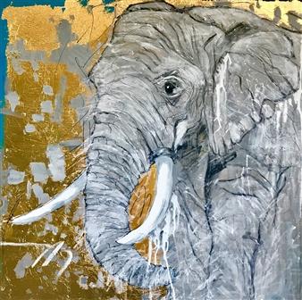 Grażyna Aneta Ochowiak - Presence Acrylic & Mixed Media on Canvas, Mixed Media