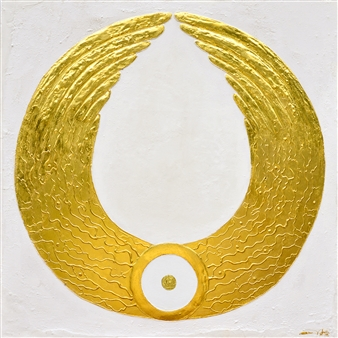 Diana Wunsch - Angel of Harmony / Security 24 Karat Gold & Acrylic on Canvas, Mixed Media