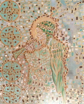 Salome Chelidze - Silence Acrylic on Canvas, Paintings