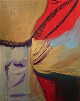 Eduardo Vidal - Asia Dragon Acrylic & Beads on Canvas, Paintings