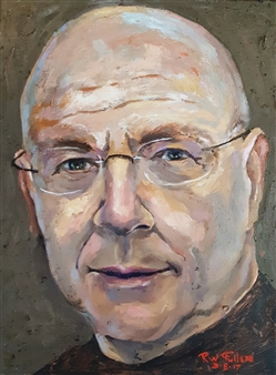 RW Fuller - Self-Portrait at 70 yrs old Oil on Canvas, Paintings