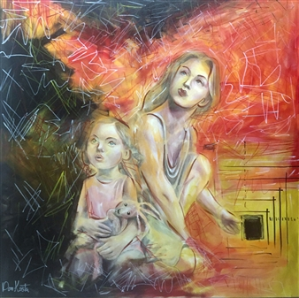 Don Kosta - By Virtue of Thought Acrylic on Canvas, Paintings