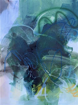 Abreesha Jones - Greener Grass Acrylic, Spray Paint, Oil Pastel on Canvas, Mixed Media