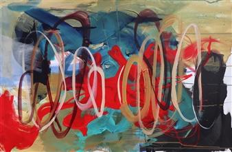 Abreesha Jones - Connecting Vibrations Acrylic & Oil Pastel on Canvas, Paintings