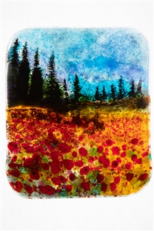 Manolo Ferrer - Forest 8 Glass Painting, Prints