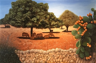 Garese - Summer Languor Oil on Canvas, Paintings