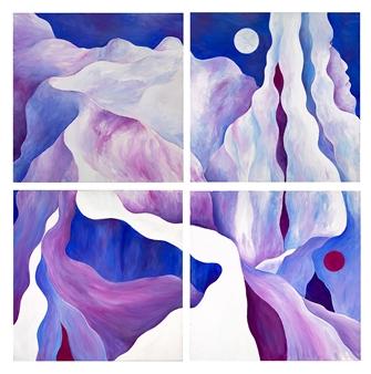 Jerry Anderson - Cappadocia 9-12 Acrylic on Canvas, Paintings