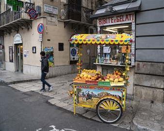 Susan Whitfield - Sicilian Fruit Cart Archival Pigment Print, Photography