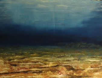 Juan M. Baraya G. - Deep Sea - Mar Profundo Oil & Sand on Canvas, Mixed Media