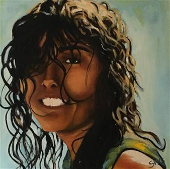 Silvia Mónica Giammatteo - Retrato de Laura Oil on Canvas, Paintings