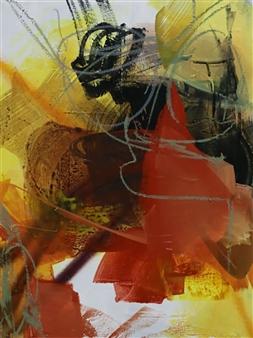 Abreesha Jones - Open Air Acrylic, Spray Paint, Oil Pastel on Canvas, Mixed Media