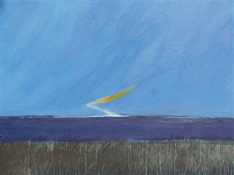 George Oommen - End of Summer 2 Acrylic on Canvas, Paintings