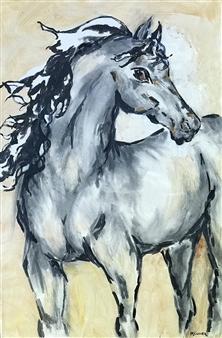 Margaret Culver - C'est La Vie Acrylic & Charcoal on Canvas, Mixed Media