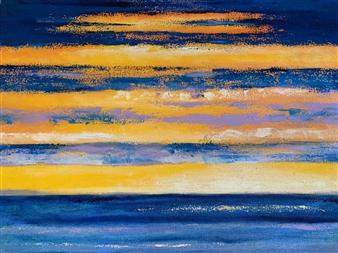 Marianne AuBuchon Devitt - Blazing Dusk Oil on Canvas, Paintings