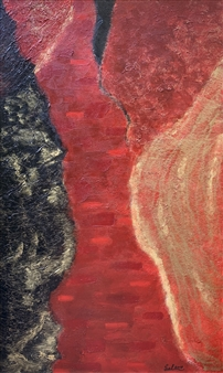 Sal Ponce Enrile - Conflict Acrylic & Mixed Media on Canvas, Mixed Media