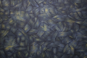 Samuel Lehikoinen - Gray & Gold Oil on Canvas, Paintings