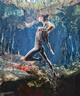Alexander Pepe Roiz - Zero Gravity S3 Oil on Canvas, Paintings