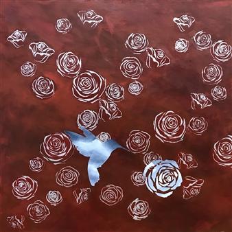 Chadwick Arcinue - Dreamscape VIII Acrylic on Canvas, Paintings