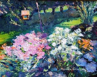 Monika Gloviczki - Summer in Minnesota Oil on Canvas, Paintings