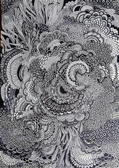 Kaoru Kushima - Nishiki Pen on Paper, Drawings