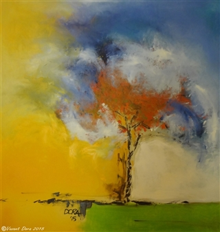 Vasant Dora - Tesu Bloom Oil on Canvas, Paintings
