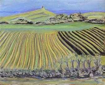 Raul Mariaca Dalence - Napa 3 Pastel on Canvas, Paintings