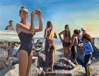 Alexandr Mischan - Selfie Tempera on Canvas, Paintings