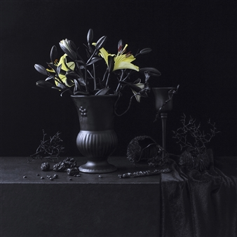 Art Golacki - Still Life in Black with Yellow Bouquet / second variation Archival Pigment Print, Photography
