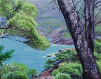 Corinne Garese - Mediterranean Oil on Canvas, Paintings