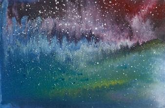 Alla Struchaieva - Shine of the Universe Oil on Canvas, Paintings