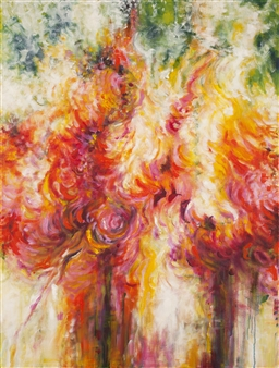Stacie Hernandez - La Esencia de la Flor Oil on Linen, Paintings