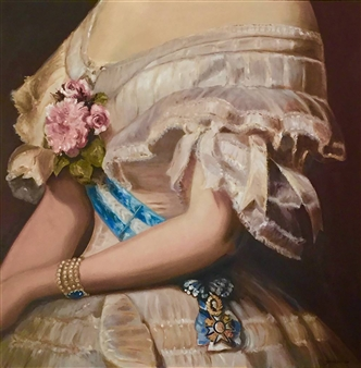 Garese - Finery / Parure n°2 Oil on Canvas, Paintings