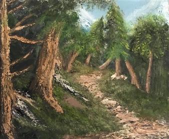 Tsila Mackay - Wilderness Oil on Canvas, Paintings