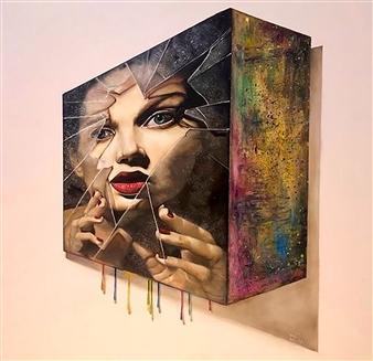 Rosana Largo Rodríguez - Cyborg 1 Oil on Canvas, Paintings
