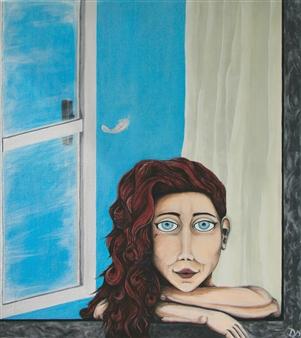 David Pallua - Dreaming.. Acrylic on Canvas, Paintings