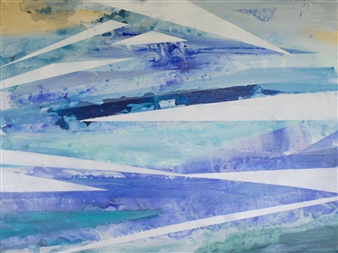 Abigail Custis - Salt Air Acrylic & Mixed Media on Canvas, Mixed Media