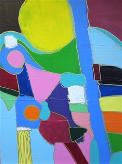Claudia Mini - Sonnengruss Acrylic on Canvas, Paintings