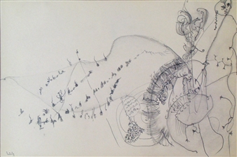Pep Mazzini - Ants Pencil on Paper, Drawings