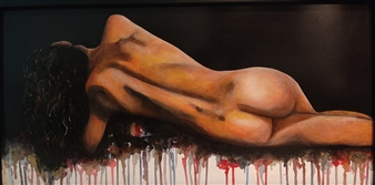 Vanessa Vilchis - Bella Solitudine Acrylic on Wood, Paintings