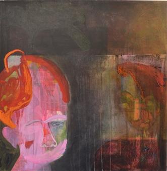 Melanie Young - Silence Acrylic & Oil on Canvas, Paintings