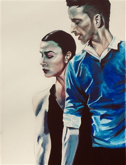 Rebecca Stenn - Eric and Rebecca Acrylic on Canvas, Paintings