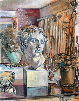 James Chisholm - Still Life with Classical Bust, 3rd State, 6-14 Oil on Canvas, Paintings