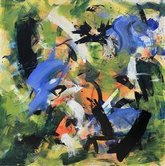 KEO - Deep Garden III Acrylic & Ink on Canvas, Paintings