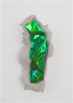 Mateusz von Motz - Prima Materia Energy Stone, Green Yellow Mixed Media, Sculpture