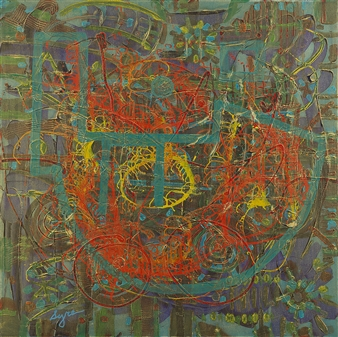 David Syre - My Magic Ship Acrylic on Canvas, Paintings