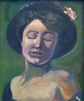 Raúl Mariaca Dalence - Soupir Oil on Panel, Paintings