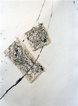 Merritt Spangler - Endings 18 Acrylic on Paper, Paintings