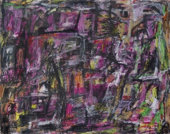 Ed Belbruno - Pathways Acrylic & Oil Pastel on Canvas, Paintings